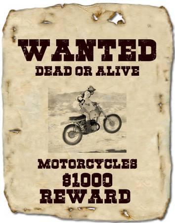 Photo WANTED MOTORCYCLES HONDA 50cc CT70 90 110 MINI DIRT BIKES CR500 LOOOK (Salt Lake City)