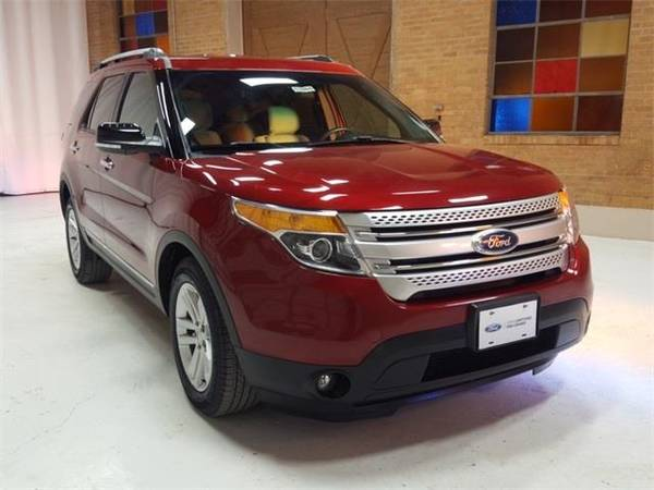 Photo 2015 Ford Explorer XLT - SUV - $18500 (Ford Explorer Ruby Red Metallic Tinted)