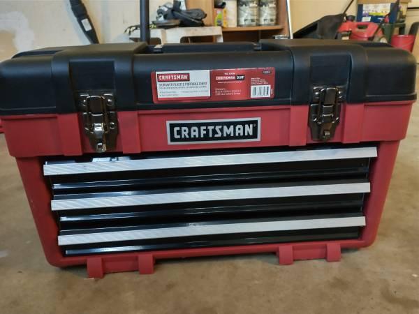Photo Craftsman 3 Drawer Portable Toolbox - $35 (Austin)