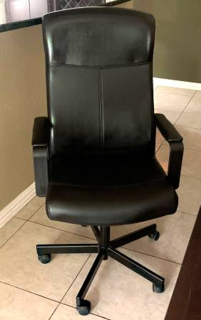 Photo Desk Office Rolling Ergonomic Comfortable Faux Leather HIGH BACK Chair - $40 (Northwest Austin)