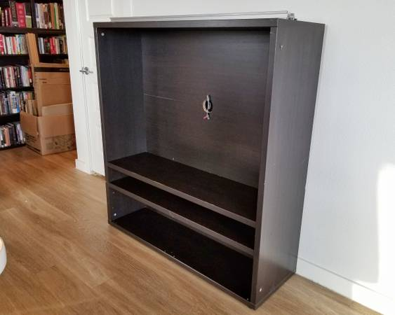 Photo IKEA Besta Media Console w Sliding Glass Doors - $110 (Austin)