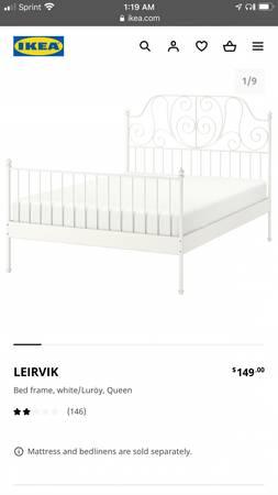 Photo IKEA queen bed classic - $75 (Soco)