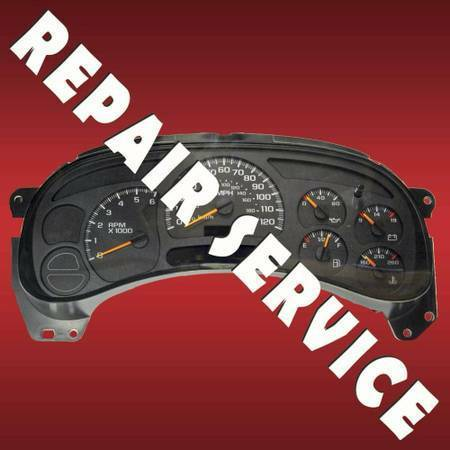 Photo Instrument Cluster Gauges Repaired 2003 - 2006 Chevy  GMC - $120 (Austin area)