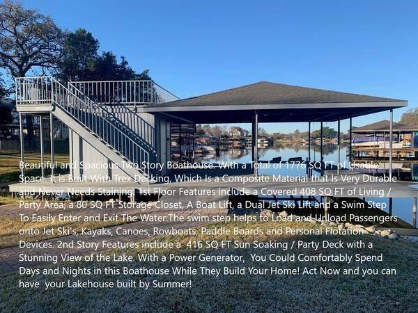 Photo Lake Kiowa Lakefront Lot for Sale With 1776 ft2 Boathouse .48 Acre (LAKE KIOWA TX)