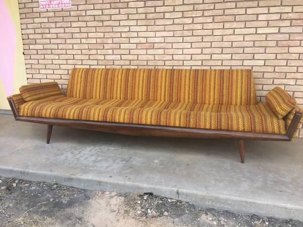 Photo Mid Century Modern Long Gondola Sofa by Adrian Pearsall - $4,800 (North Lamar Brentwood)