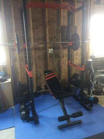Photo New squat rack power cage - $300 (Austin)