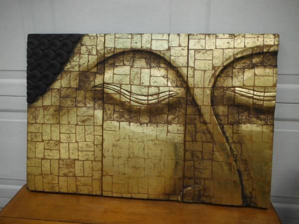 Photo Pier 1 Large Wood Buddha Art - $75 (South Austin)