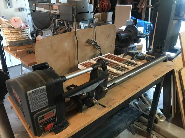 Photo Price Reduced. Craftsman 12 in wood lathe  tools - $300 (San Angelo)
