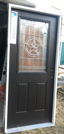 Photo ThermaTru Left-Hand Inswing Exterior Door With Texas Star Half-Light - $475 (Austin)