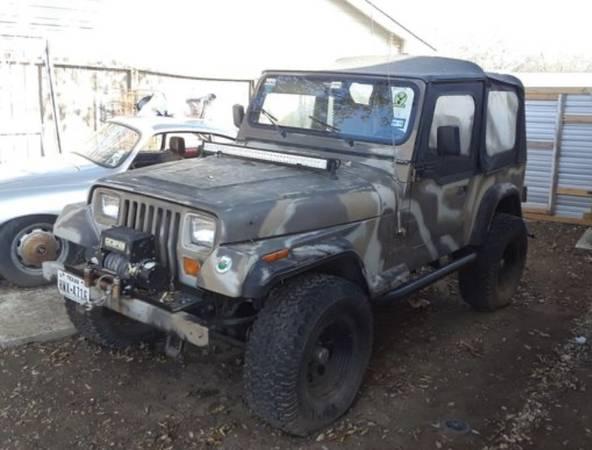 Photo 1988 soft top Jeep Wrangler - $5000 (Leon Valley)