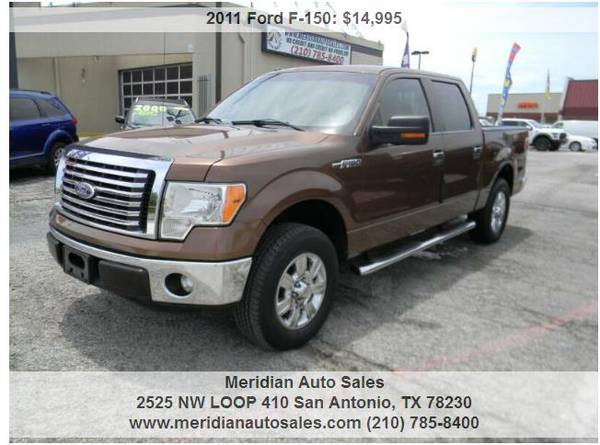 Photo 2011 FORD F150 XLT 4X2 4DR SUPERCREW STYLESIDE, NICE AND SUPER CLEAN - $14,495 (2525 NW LOOP 410 SAN ANTONIO TX www.meridianautosales.com)