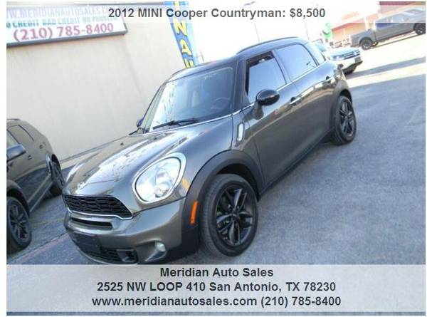 Photo 2012 MINI COOPER AUTO 4 DOOR COUNTRYMAN quotSquot LOADED DRIVES EXCELLENT - $8500 (2525 NW LOOP 410 SAN ANTONIO TX www.meridianautosales.com)