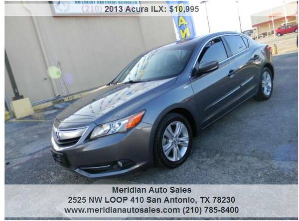 Photo 2013 ACURA ILX HYBRID 4DR TECH PACK LEATHER MOONROOF NAV GAS SAVER - $9500 (2525 NW LOOP 410 SAN ANTONIO TX www.meridianautosales.com)