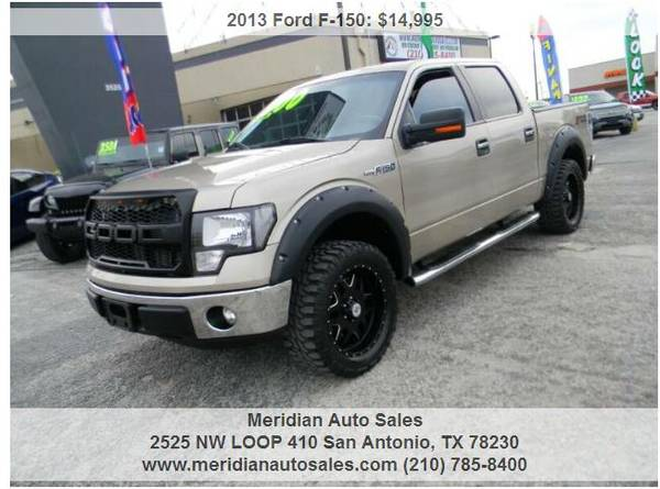 Photo 2013 FORD F150 FX2 SUPERCREW STYLE SIDE 5.5 FT, LOOK - $14500 (2525 NW LOOP 410 SAN ANTONIO TX www.meridianautosales.com)