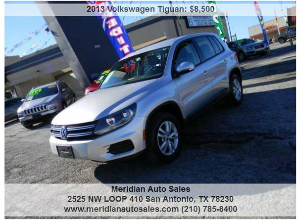 Photo 2013 WV TIGUAN, GAS SAVER SUV LEATHER LOADED, ONLY $7995, LOOK - $7995 (2525 NW LOOP 410 SAN ANTONIO TX www.meridianautosales.com)