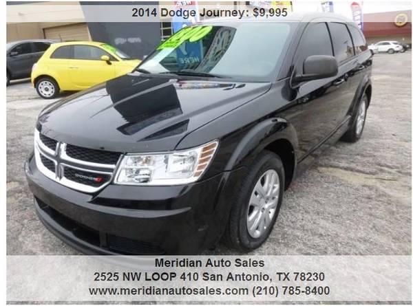 Photo 2014 DODGE JOURNEY BLACK ON BLACK 3rd ROW 4CYL GAS SAVER SUPER CLEAN - $8500 (2525 NW LOOP 410 SAN ANTONIO TX www.meridianautosales.com)