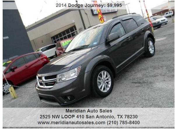Photo 2014 DODGE JOURNEY SXT 4DR, GREAT CLEAN AND RELIABLE SUV, LOOK - $9,995 (2525 NW LOOP 410 SAN ANTONIO TX www.meridianautosales.com)