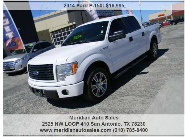 Photo 2014 FORD F150 FX2 4X2 4DR SUPERCREW STYLESIDE, NICE AND SUPER CLEAN - $15,995 (2525 NW LOOP 410 SAN ANTONIO TX www.meridianautosales.com)
