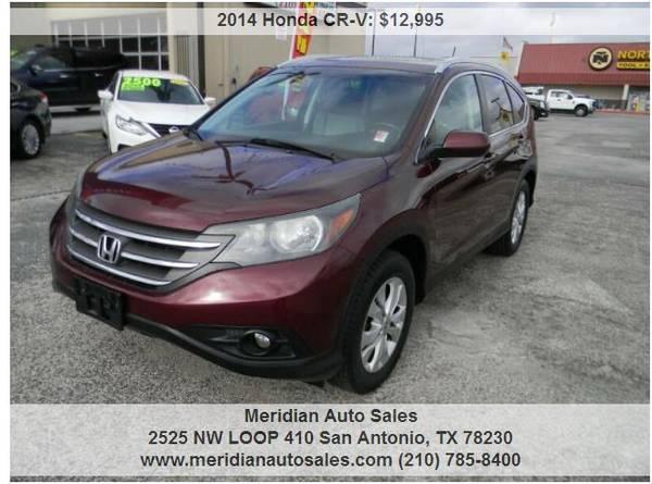 Photo 2014 HONDA CR-V EX WNAVIGATION 4DR GREAT SUV, LOOK - $12,495 (2525 NW LOOP 410 SAN ANTONIO TX www.meridianautosales.com)