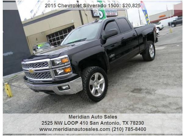Photo 2015 CHEVY SILVERADO LT 4DR AUTO, SUPER CLEAN BLACK ON BLACK, LOOK - $19995 (2525 NW LOOP 410 SAN ANTONIO TX www.meridianautosales.com)