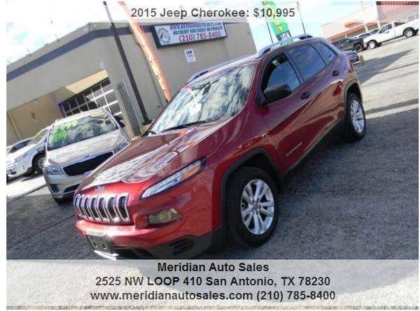Photo 2015 JEEP CHEROKEE SPORT 4DR SUPER NICE AND CLEAN SUV, LOOK - $10,500 (2525 NW LOOP 410 SAN ANTONIO TX www.meridianautosales.com)