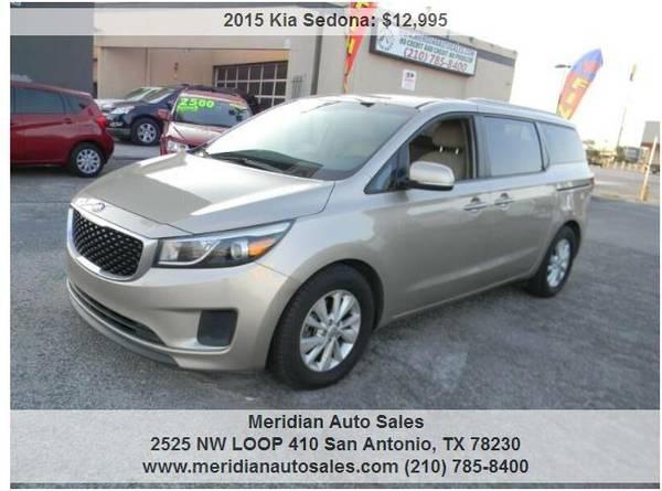 Photo 2015 KIA SEDONA LX 4DR SUPER NICE AND RELIABLE SUV, LOOK - $12,995 (2525 NW LOOP 410 SAN ANTONIO TX www.meridianautosales.com)