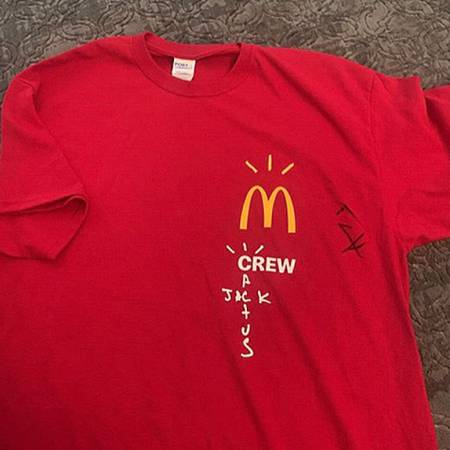 Photo Autographed Travis Scott mcdonalds crew tee - $300 (Falls City)