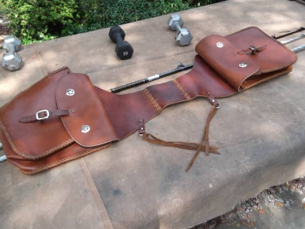 Photo Beautiful Custom-Made Texas Western Saddlebags - $95 (Center Point)