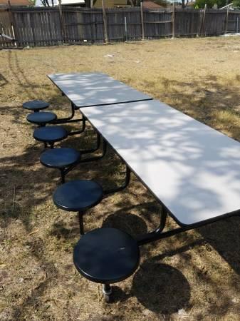 Photo Cafeteria tables 10ft x 3ft - $450 (San Antonio)