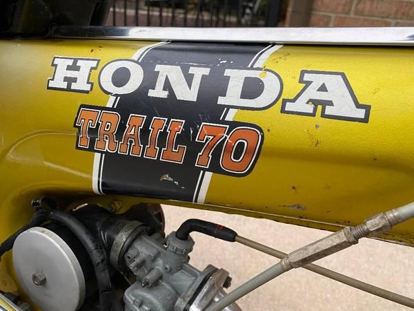 Photo Honda Trail 70 CT70 Mini Bike Motorcycle Restoration Candidate - $900 (Stone Oak)