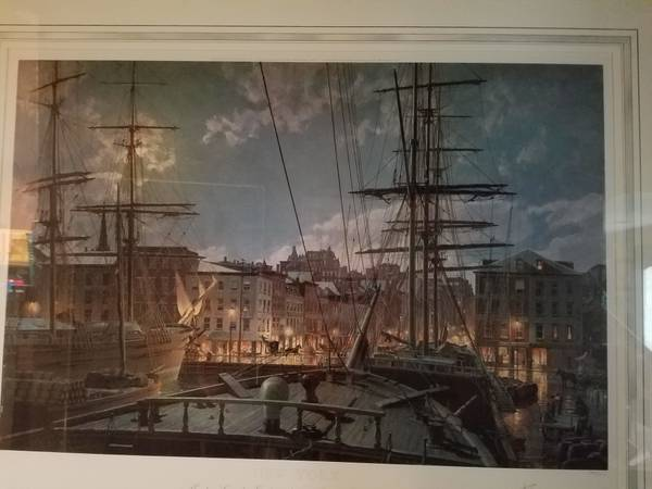 Photo Maiden Lane by Gaslight Numbered Print by John Stobart (Signed) - $450 (San Antonio, Tx)