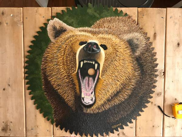 Photo One-of-a-kind painted saw blade - $2,500