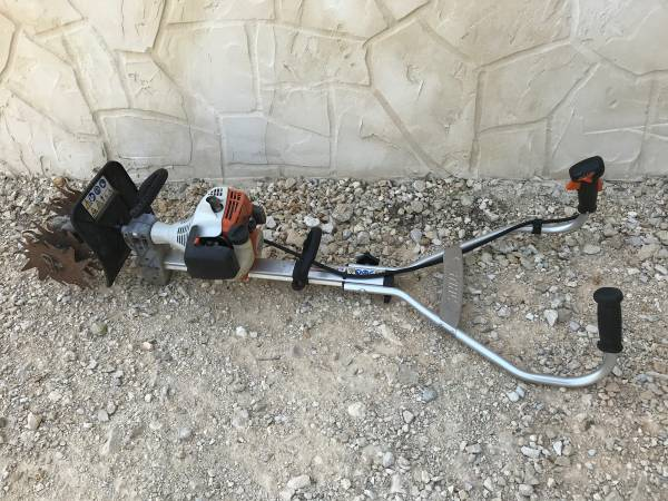 Photo STIHL MM55 MM 55 GAS POWERED TILLER CULTIVATOR Two Stroke RUNS GREAT  - $225 (Spring Branch)