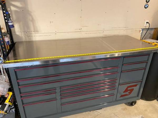 Photo Snap-on Stainless Steel Tool Box Top- BRAND NEW Snapon Snap On Top - $650 (Stone Oak)