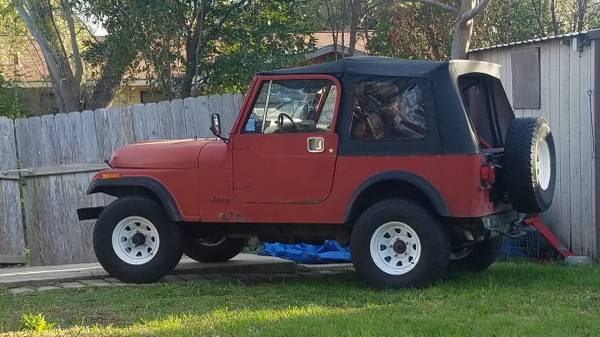 Photo cj7 jeep 1984 - $4300 (nc)