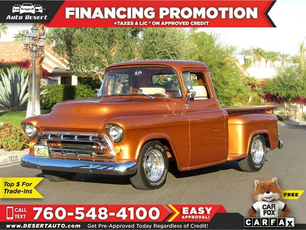 Photo 1957 Chevrolet pick up $610 mo - $49995 (BUY - SELL - TRADE - CONSIGN)