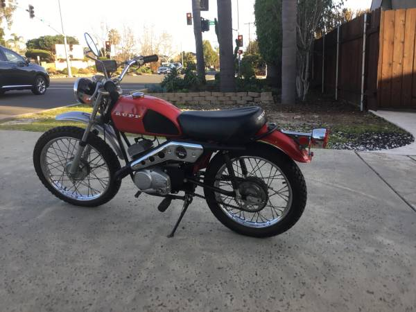 Photo 1972 Rupp RMT 80 quottwo strokequot Mini bike Tule Trooper minibike - $2400 (Carlsbad)