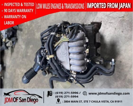 Photo 1996 2004 TOYOTA TACOMA TUNDRA T100 4 RUNNER V6 3.4L ENGINE JDM 5VZ - $1,500 (JDM OF SANDIEGO)