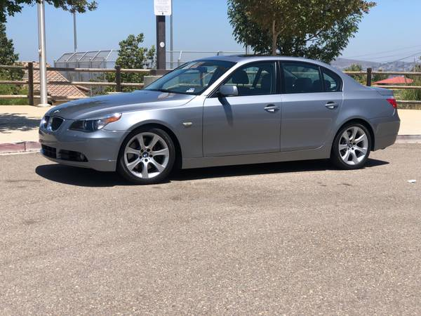 Photo 2004 BMW 545i Silver GreyGrey Sport Package LOW MILES - $7,500 (Eastlake)