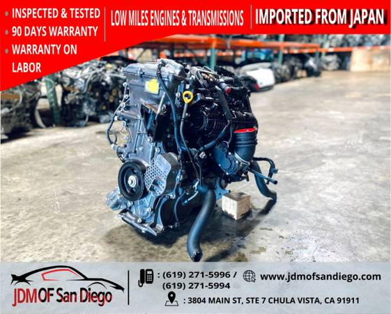 Photo 2010 2015 JDM TOYOTA PRIUS 2ZR-FXE LEXUS CT200H 1.8L HYBRID ENGINE - $1,200 (JDM OF SANDIEGO)