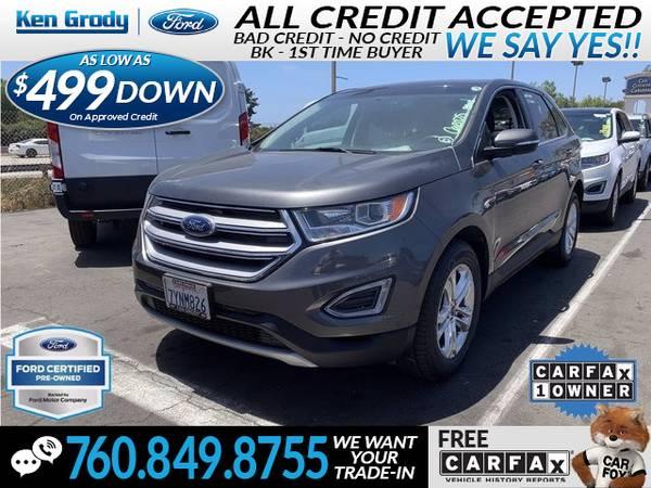 Photo 2017 Ford Edge SEL (- $499 Down oac -CallText (760) 849-8755)