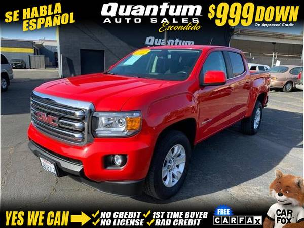 Photo 2018 GMC Canyon Crew Cab SLE Pickup 4D 5 ft (- $999 Down oac GET APPROVED TODAY)