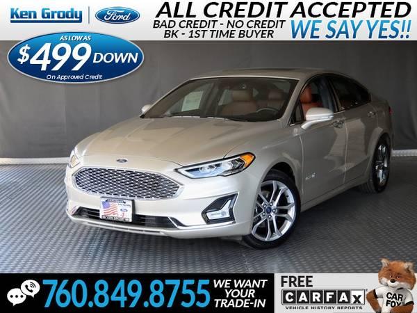 Photo 2019 Ford Fusion Hybrid Titanium (- $499 Down oac -CallText (760) 849-8755)
