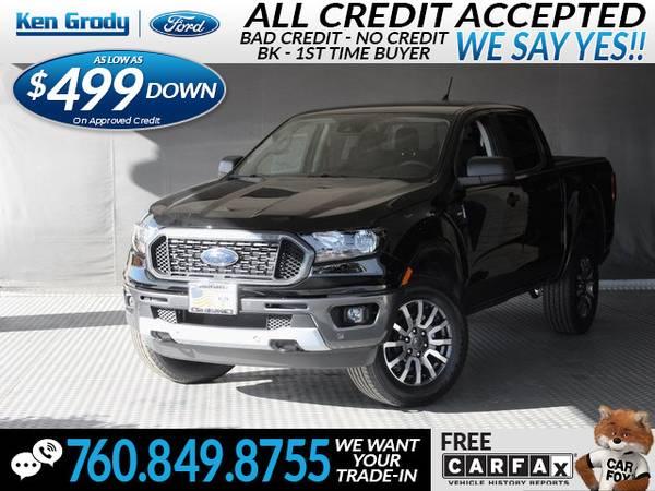 Photo 2019 Ford Ranger XLT (- $499 Down oac -CallText (760) 849-8755)