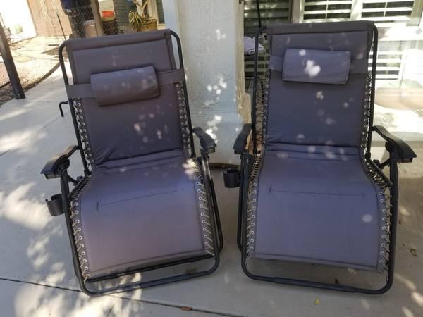 Photo 2 Extra Wide, Padded, Patio Folding Lounge Chairs - $125 (Rancho Bernardo)