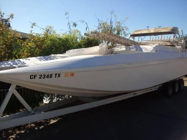 Photo 3239 catamaran, tunnel Hull, Eliminator style boat - $15000 (Fallbrook)