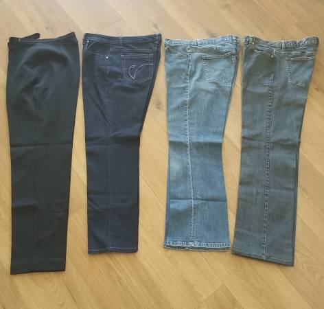 Photo 3 Pairs of Jeans, 1 Pair Dress Black Pants - Size 10 - $20 (Valley Center)