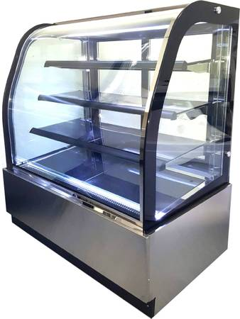 Photo 47quot Curved Glass Front Cake Display Case Merchandiser - GL-840A - $2,299 (San Marcos)
