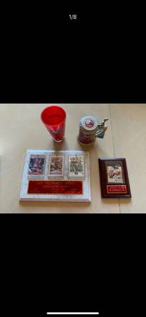 Photo 49ers memorabilia - Montana, Young and Rice - $150 (San Diego)