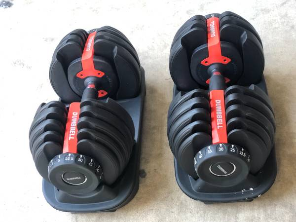 Photo Adjustable Dumbbell weights dumbbell adjustable dumbbell pair - $225 (san diego)